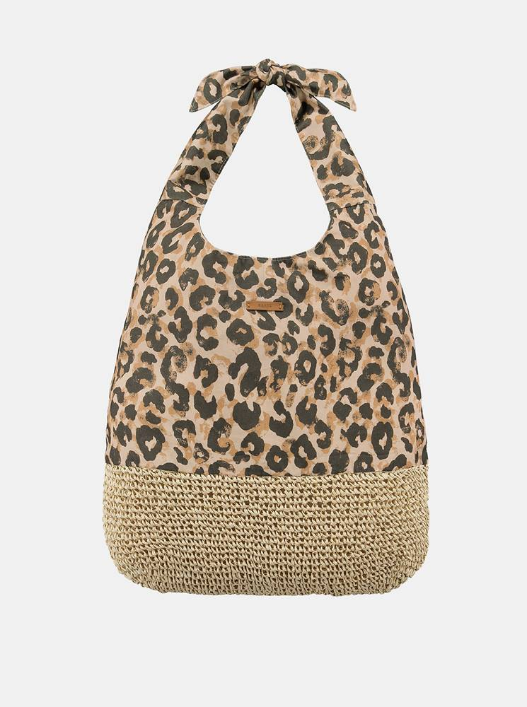 barts Hnedá dámska vzorovaná plážová taška BARTS
