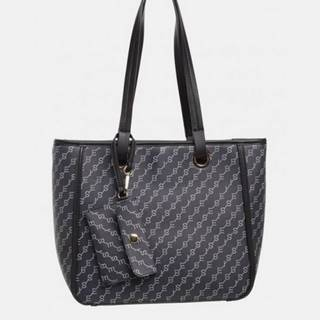 Tmavomodrá vzorovaná kabelka Bessie London