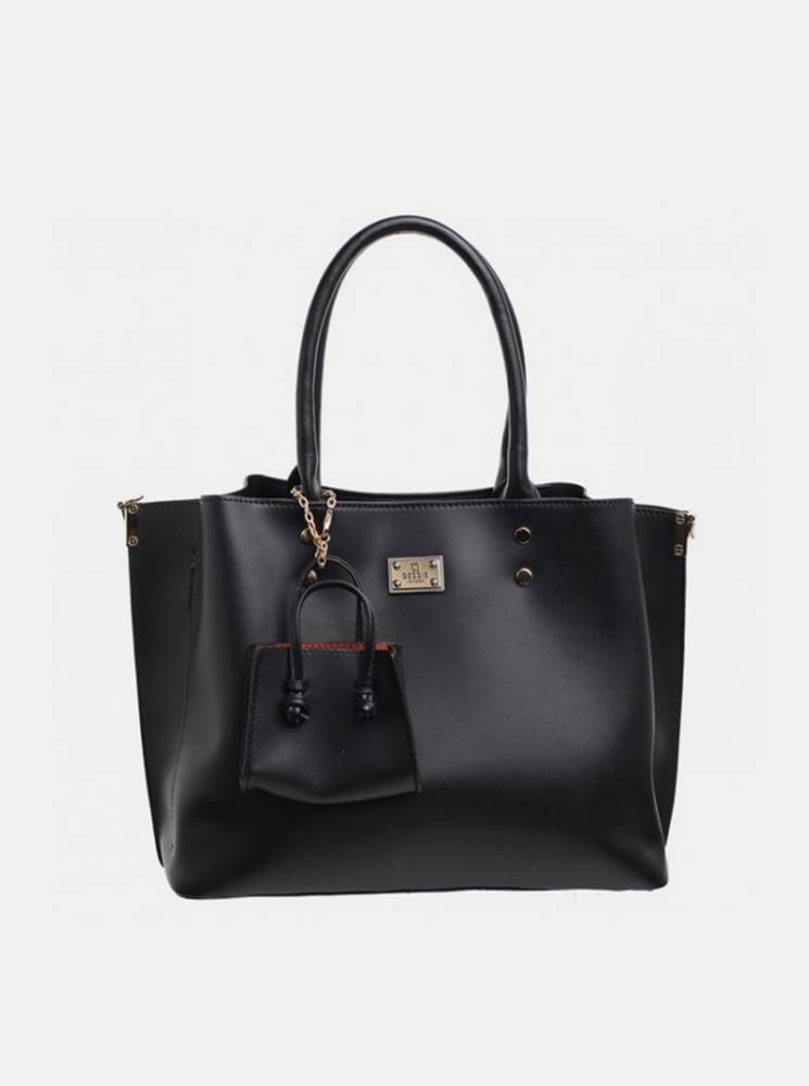 Bessie London Čierna kabelka s malým púzdom Bessie London