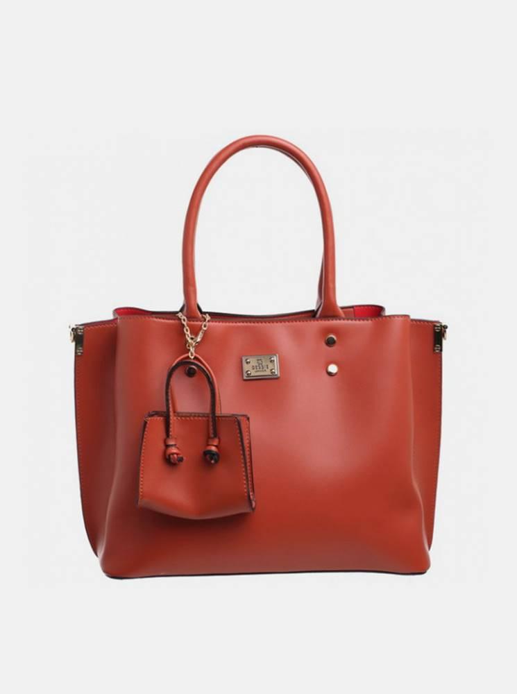 Bessie London Hnedá kabelka s malým púzdrom Bessie London