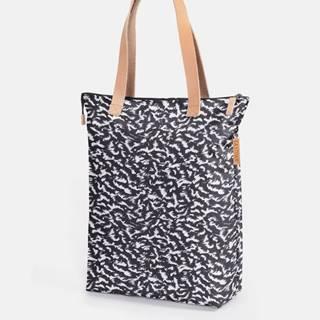 Bílo-černá vzorovaná taška Eastpak