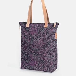 Fialová vzorovaná taška Eastpak