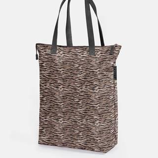 Hnedá vzorovaná taška Eastpak