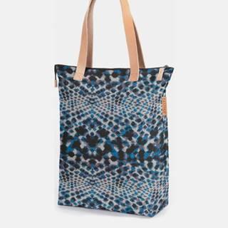 Modrá vzorovaná taška Eastpak