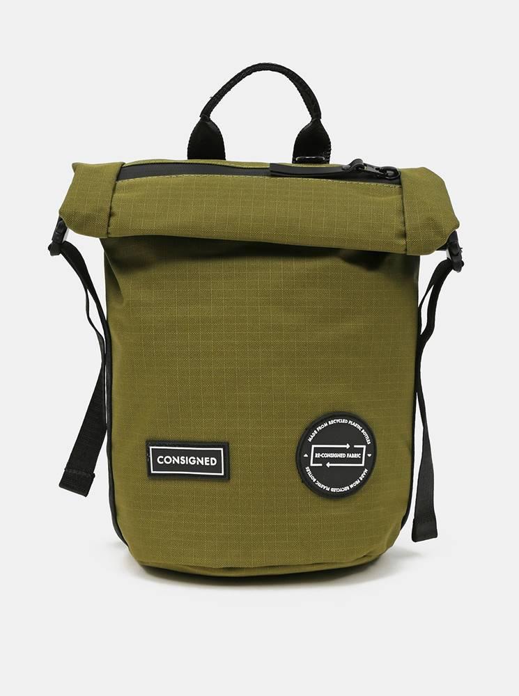 Consigned Zelený batoh/taška cez rameno Consigned