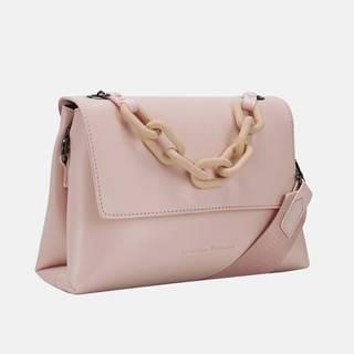 Ružová crossbody kabelka s ozdobnou retiazkou Claudia Canova