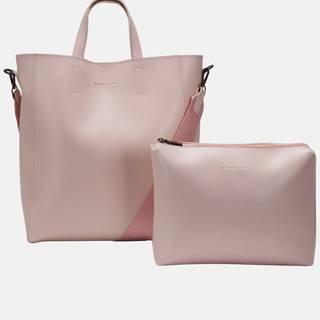 Ružová veľká kabelka s odnímateľným púzdrom Claudia Canova