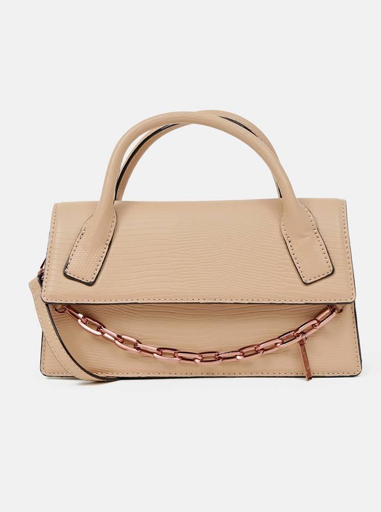ALDO Béžová kabelka s ozdobnou retiazkou ALDO Buria