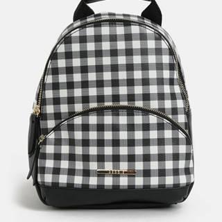 Bielo–čierny kockovaný batoh Bessie London