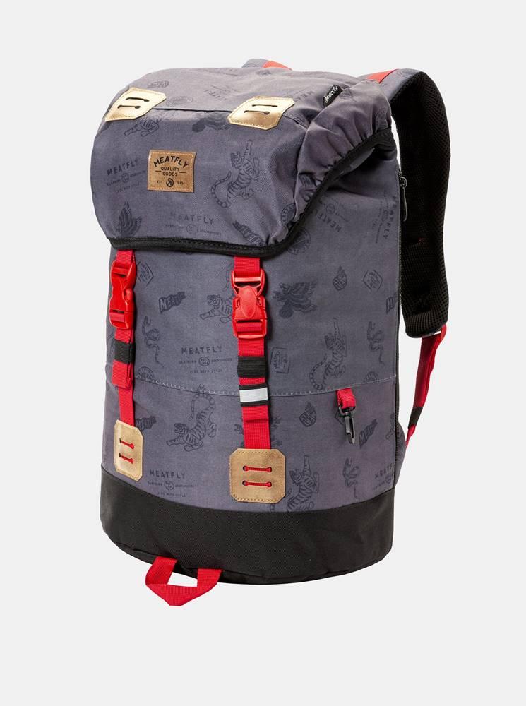 Meatfly Tmavosivý batoh s pláštenkou Meatfly 26 l