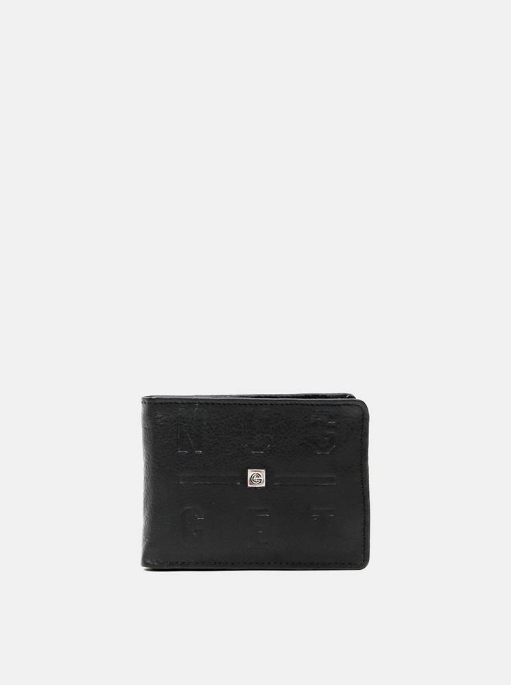 NUGGET Čierna pánska kožená peňaženka Nugget