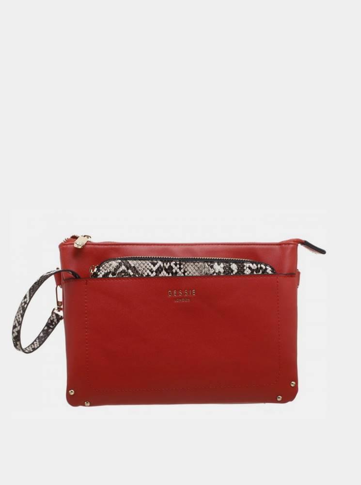 Červená listová kabelka Bes...