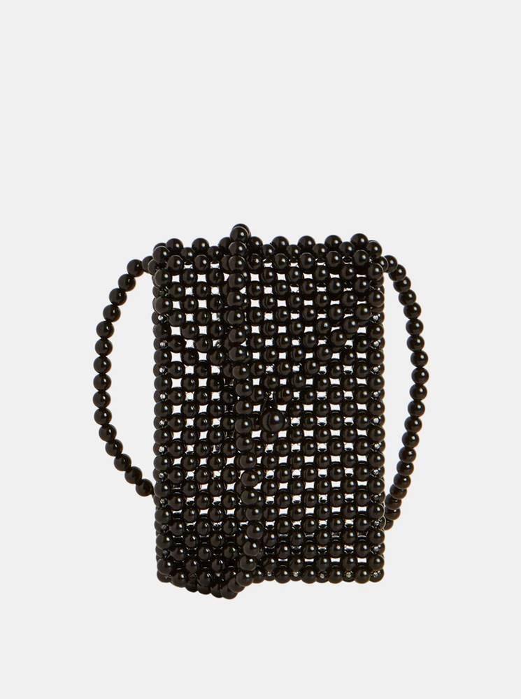 .object Čierna korálková kabelka Object