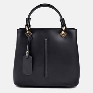 Čierna kožená kabelka Roberta M