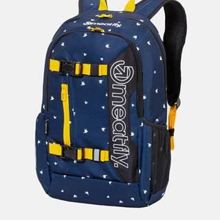 Tmavomodrý vzorovaný batoh Meatfly Basejumper