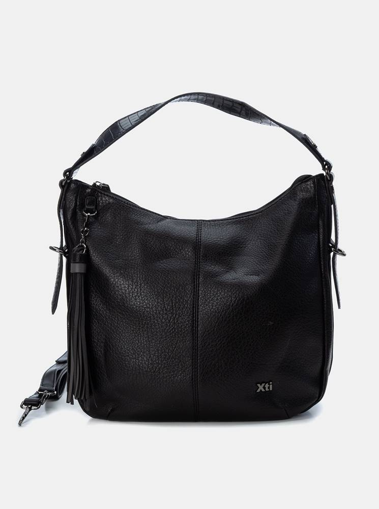 Xti Čierna kabelka so strapcami Xti