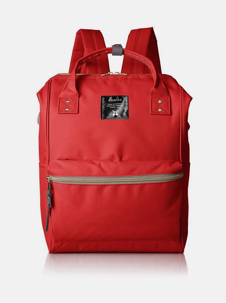 anello Červený batoh Anello 18 l