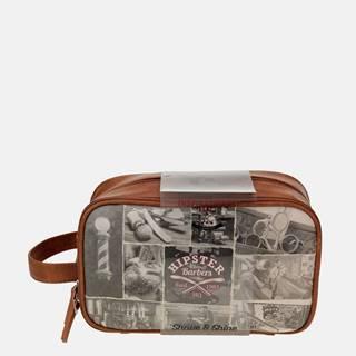 Hnedá pánska cestovná kozmetická taška Something Special
