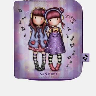 Fialová malá peňaženka Santoro Gorjuss The Duet