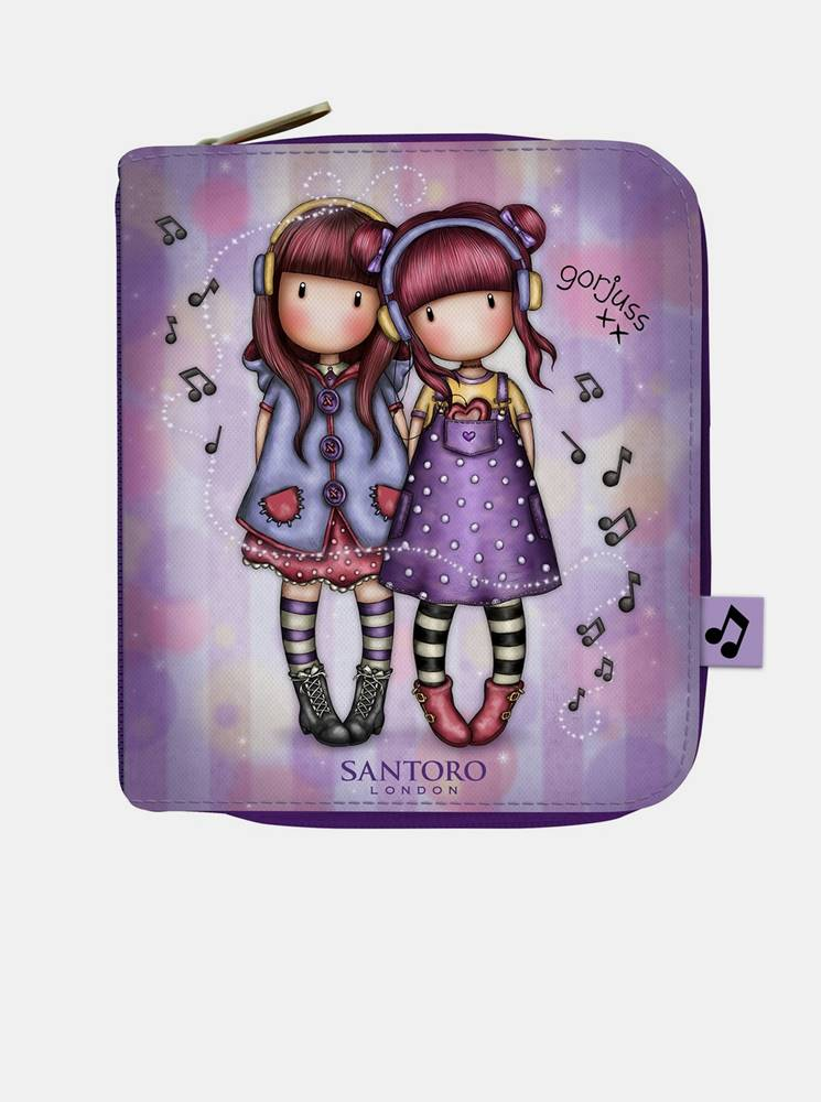 santoro Fialová malá peňaženka Santoro Gorjuss The Duet
