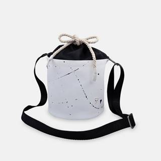 biela crossbody kabelka Mini White Splash