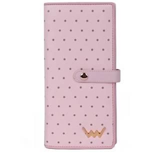 púdrovo ružová peňaženka Cora