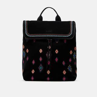 Čierny dámsky vzorovaný batoh  July Tribu Nerano