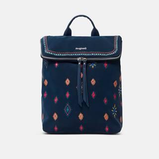 Tmavomodrý dámsky vzorovaný batoh  July Tribu Nerano