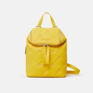 Žltý dámsky vzorovaný batoh  Ojo de Tigre Nerano Loen Mini