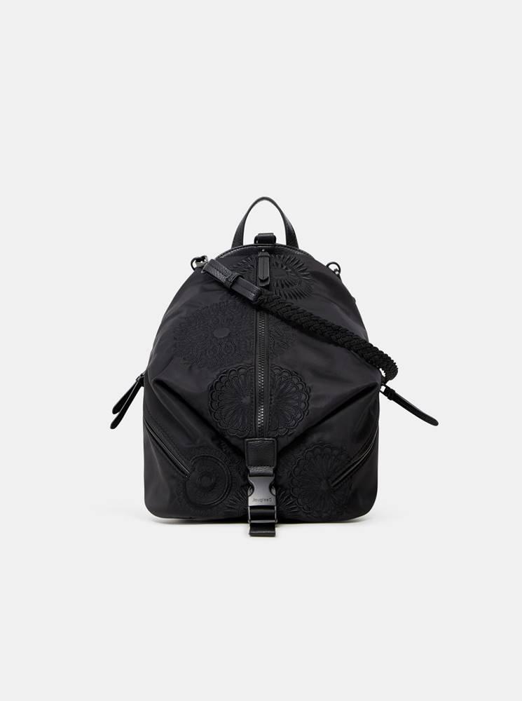 Desigual Čierny dámsky vzorovaný batoh  Mandarala Viana