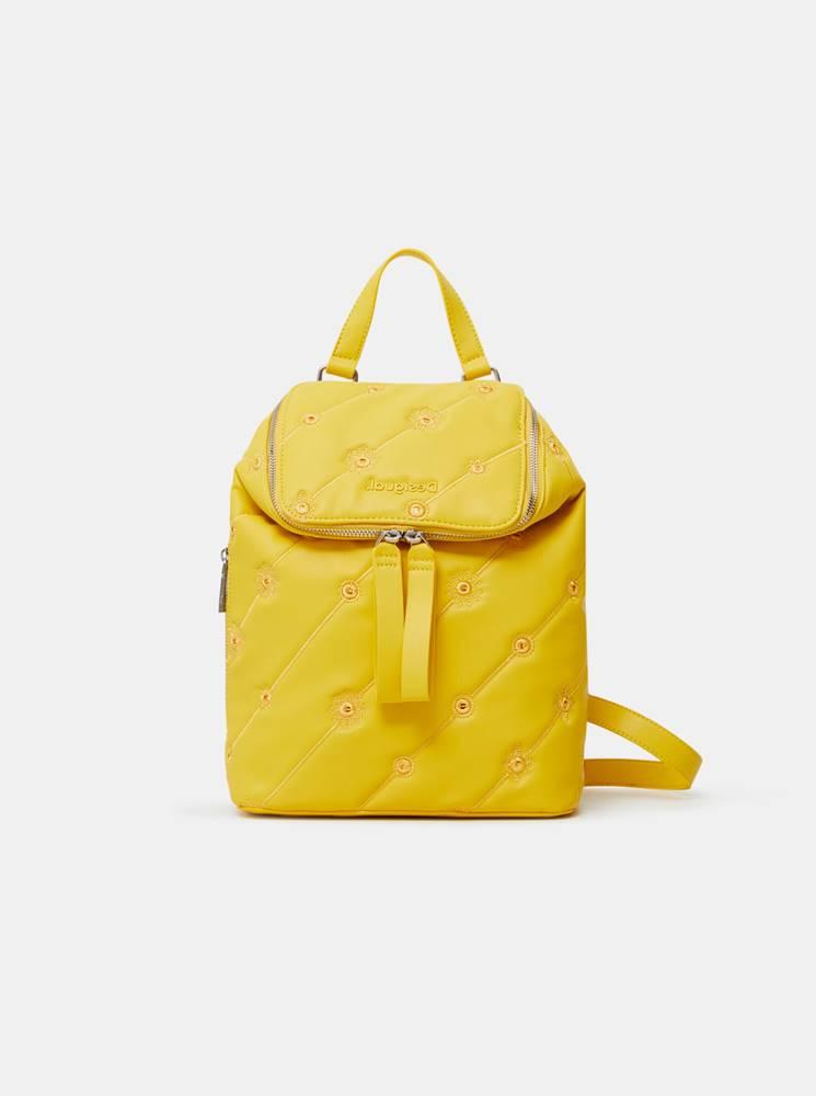 Žltý dámsky vzorovaný batoh...