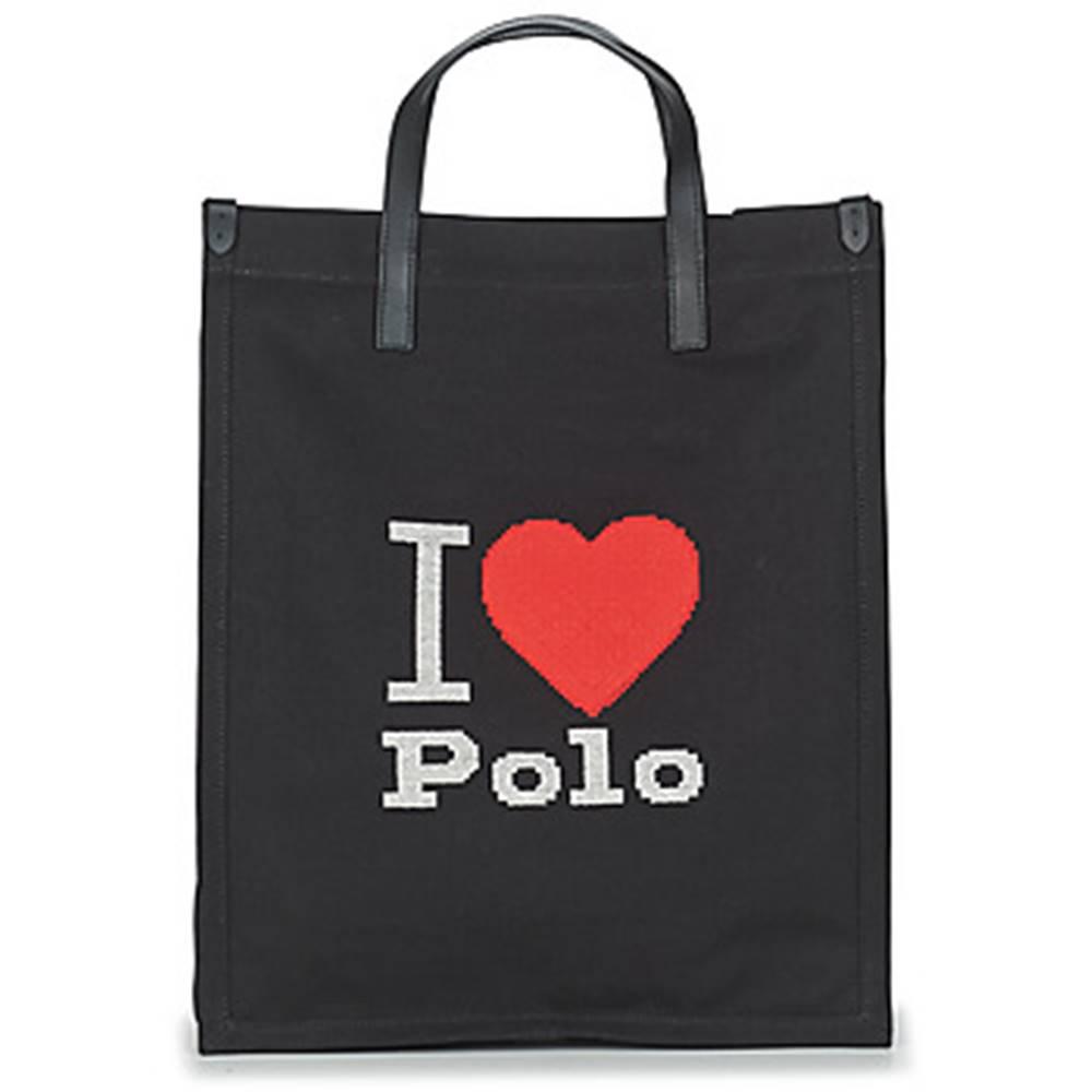 Polo Ralph Lauren Veľká nákupná taška/Nákupná taška Polo Ralph Lauren  I HRT POLO CVS/LTHR