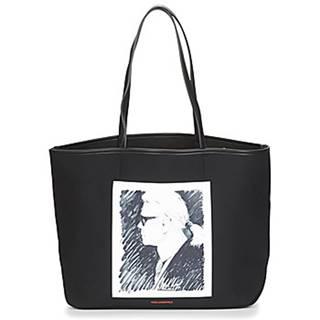 Veľká nákupná taška/Nákupná taška Karl Lagerfeld  KARL LEGEND CANVAS TOTE