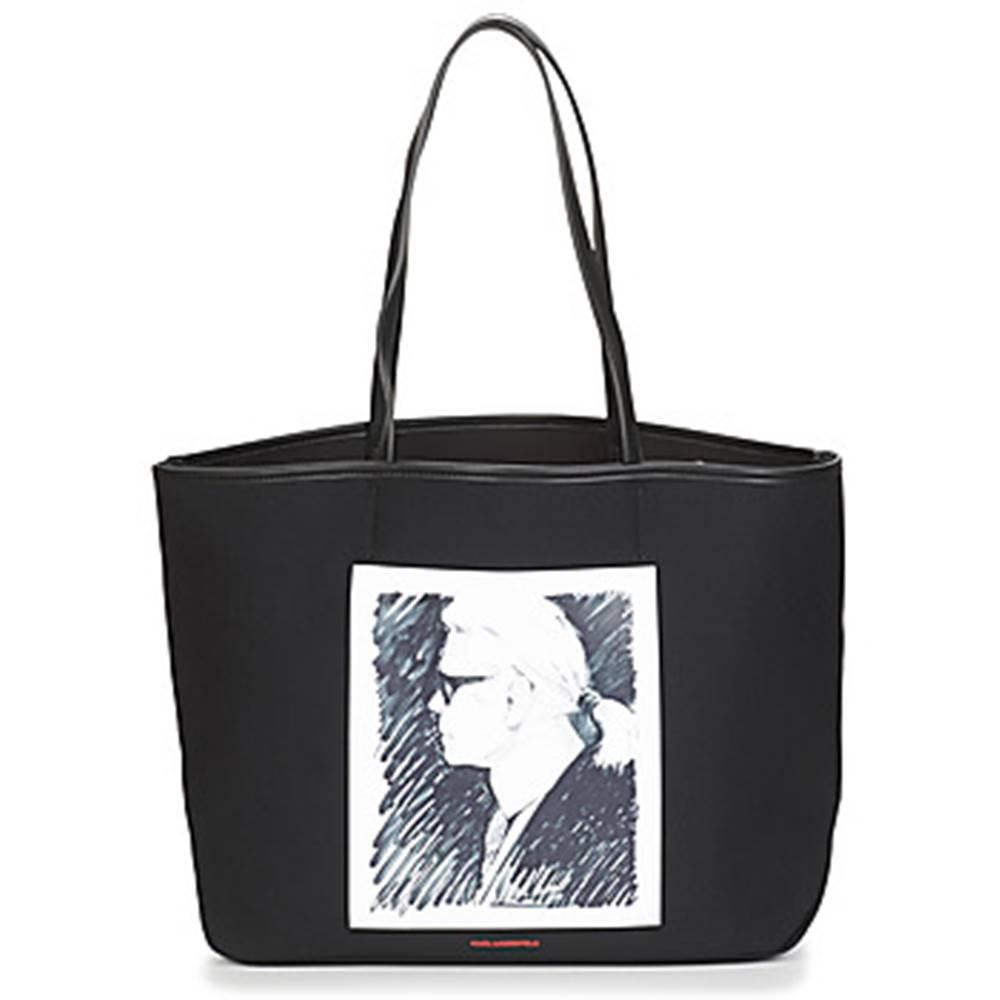 Karl Lagerfeld Veľká nákupná taška/Nákupná taška Karl Lagerfeld  KARL LEGEND CANVAS TOTE
